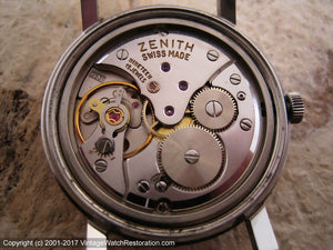 Zenith Silver Star and Silver Dial Cal 2531, Manual, 34mm