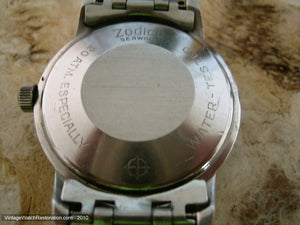 Zodiac Seawolf White with Green Triangle Markers - Signed 5x, Automatic, Large 35mm