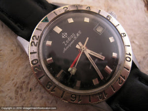 Zodiac Aerospace G.M.T. Black Dial Date, Automatic, Large 35mm