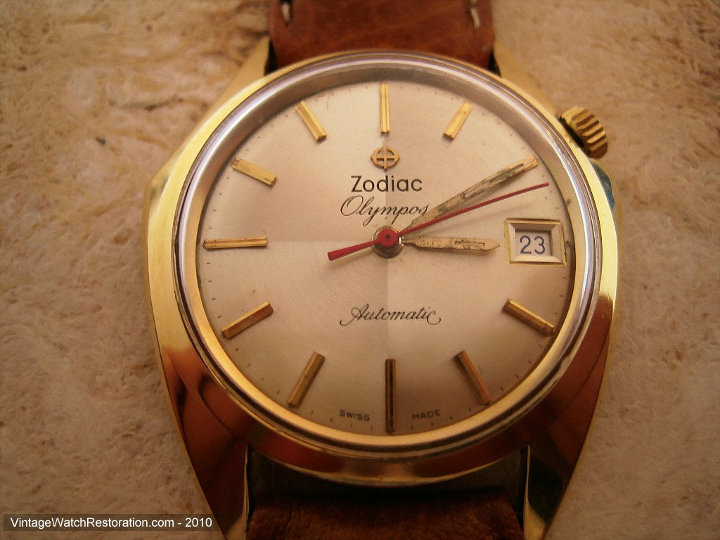 Asymmetrical Zodiac Olympus with Date, Automatic, Asymmetrical