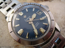 Load image into Gallery viewer, Rare Zodiac Blue Dial Sea Wolf with Date and Zodiac Bracelet, Automatic, Large 35.5mm