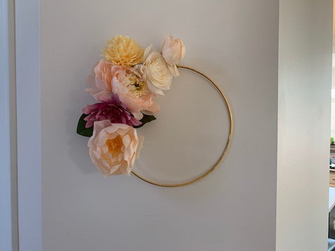 Assorted Flower Half Wreath