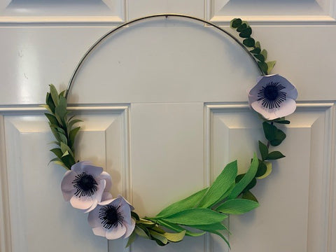 Anemone Flower Wreath