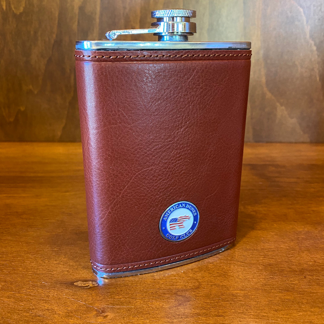Ahead Leather Flask