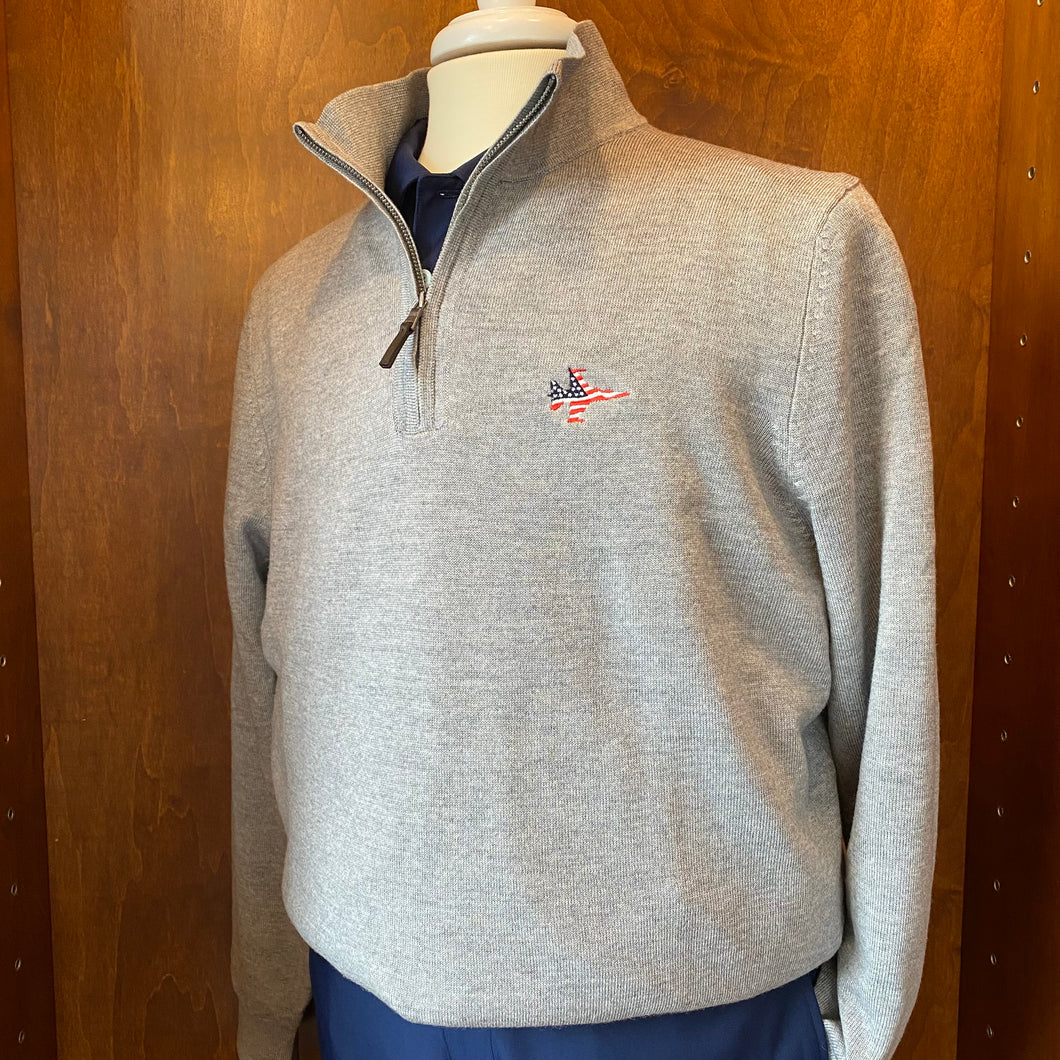 Fairway & Greene Baruffa Merino Quarter Zip Windsweater
