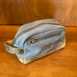 Ahead Canvas & Leather Dopp Toiletry Kit