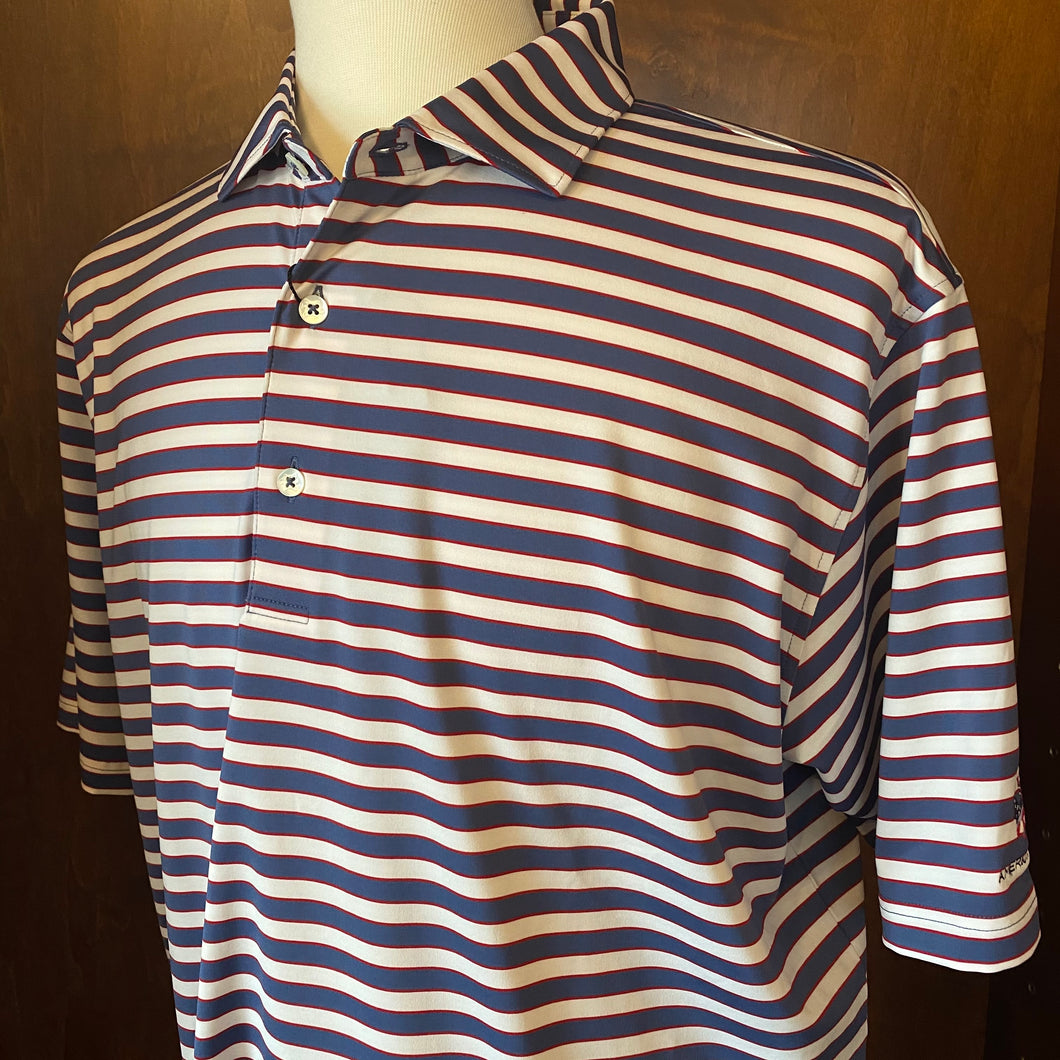 Turtleson Powell Stipe Performance Polo