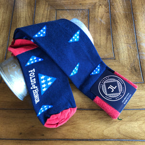 JL The Brand Sock Folds of Honor Navy