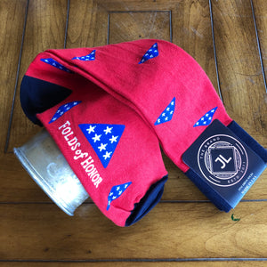 JL The Brand Sock Folds of Honor Red