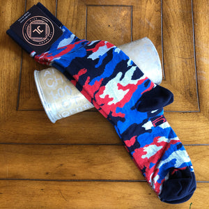 JL The Brand Sock Royal Blue Camo