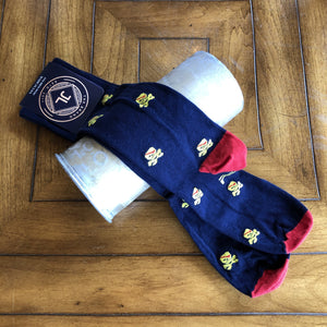 JL The Brand Sock Navy/Yellow/Red