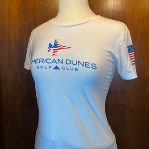 St. Andrews Next Level Premium Fitted Crew Women's Tee Shirt / Patriot Jet