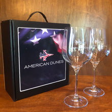 Load image into Gallery viewer, Sterling Cut Glass Harmony Red Wine Glass Set w/ Patriot Jet
