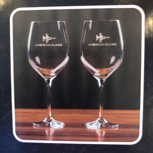 Sterling Cut Glass Harmony Red Wine Glass Set w/ Patriot Jet
