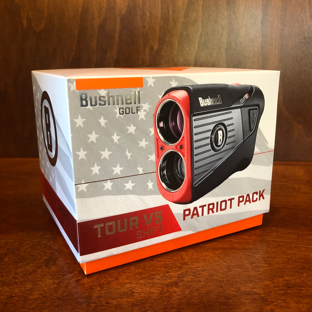 Bushnell Tour V5 Shift Golf Rangefinder Patriot Pack