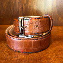 Load image into Gallery viewer, Antas Custom Fit Belt - Scotch Belt w/ Navy Stitching