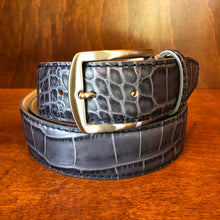 Load image into Gallery viewer, Antas Custom Fit Belt - Gray Belt w/ Navy Stitching