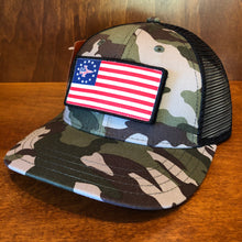 Load image into Gallery viewer, Pukka Tactical Morale Jet Flag Patch Mid Crown Camo Trucker Cap
