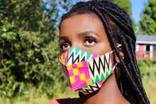 Load image into Gallery viewer, Hand Made Ankara Print Face Mask - AYO