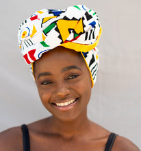 Load image into Gallery viewer, Satin Lined Head Wrap - Wambo