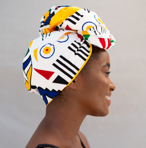 Satin Lined Head Wrap - Wambo