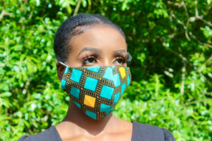 Hand Made Ankara Print Face Mask - Hamidi