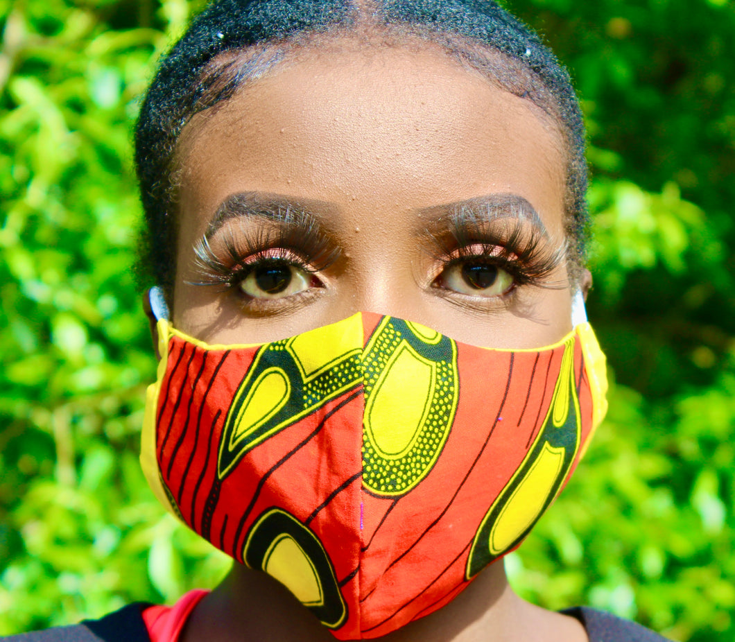Hand Made Ankara Print Face Mask - AIDA