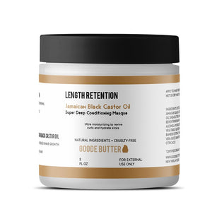 """Jamaican Black Castor Oil"" Length Retention Super Deep Conditioning Masque - Goode Butter"