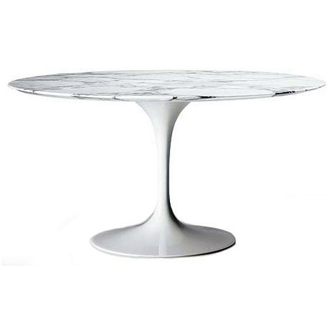 Tulip Table with Marble top
