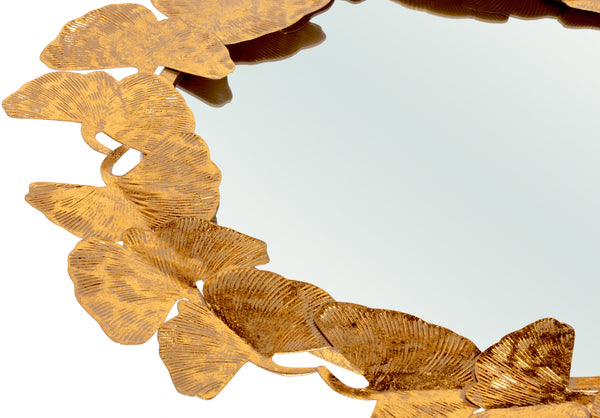 Ginko Leaf Wall Mirror