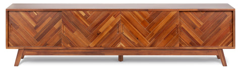 Herringbone TV Stand Low