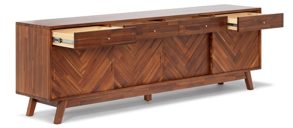 Herringbone TV Stand High