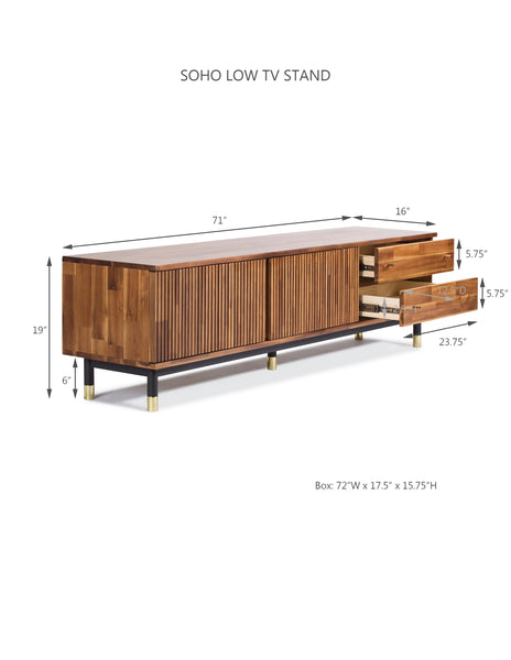 Soho Low TV Stand