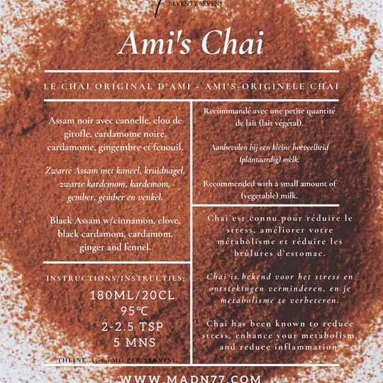 Ami's Chai with Fennel and Ginger