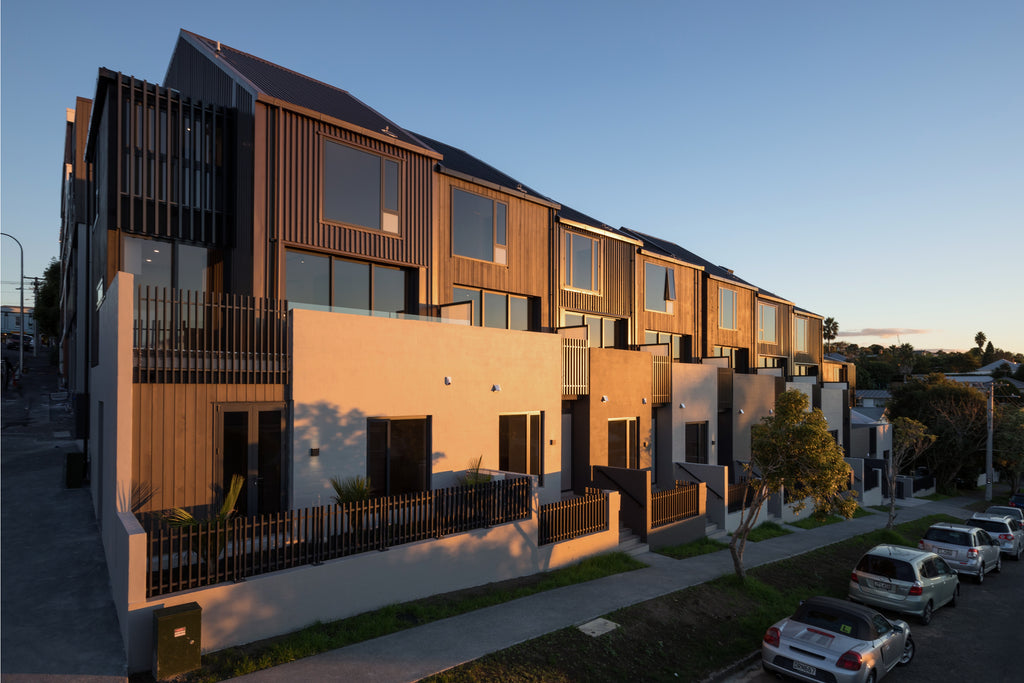 Row of Houses | Door + Window Systems Auckland