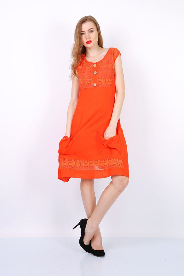 Robe courte uni MACMAX HURRICANE orange