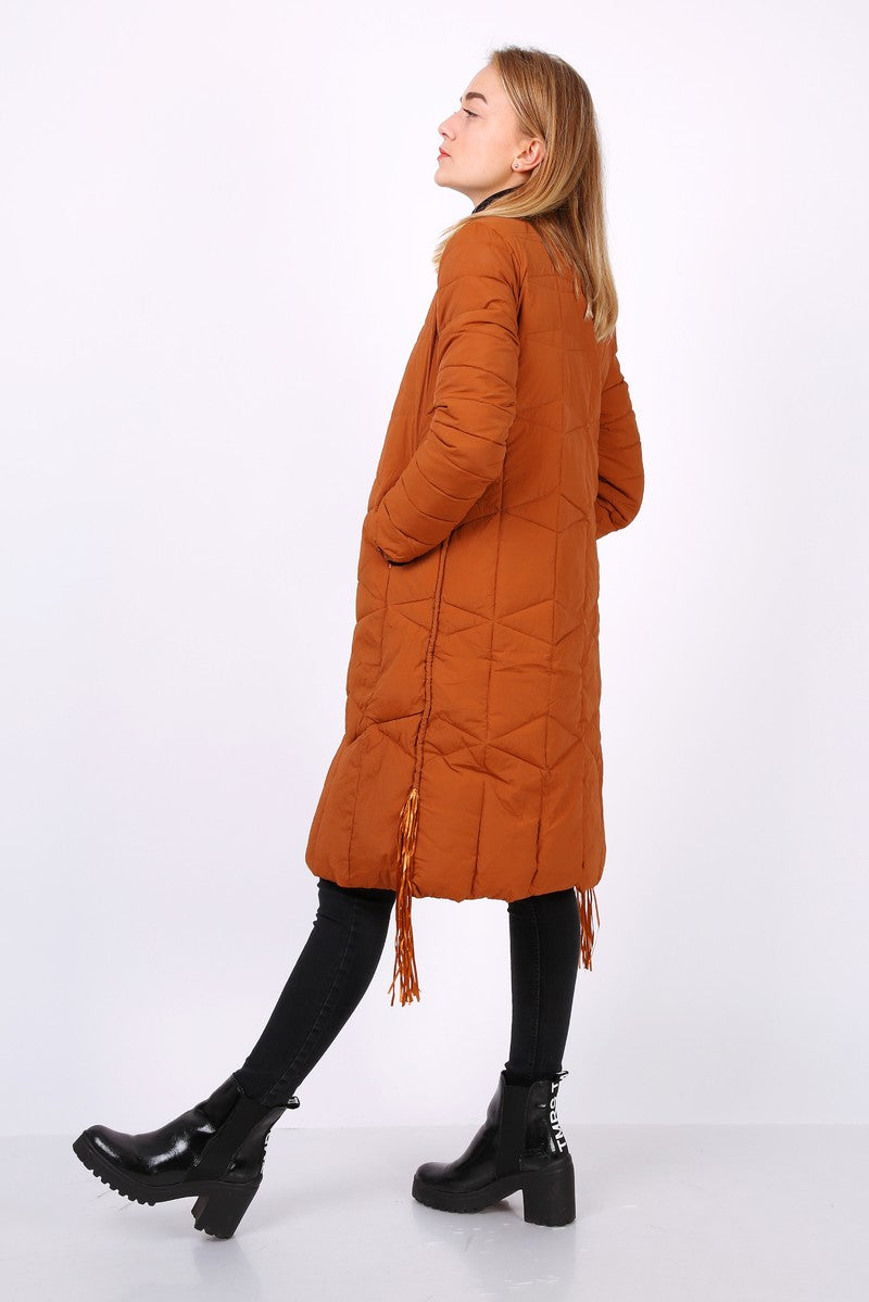 Manteau longueur au genou CAMILLA orange