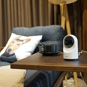 Kami Indoor Camera on Table - Nice Home living room