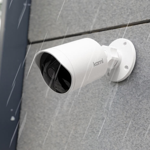 Kami Outdoor Security Camera in Action (rain)