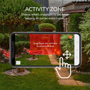 Smart Zone definition feature - Kami Outdoor Security Camera