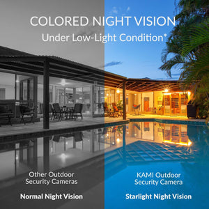 Color Night Vision feature - Kami Outdoor Security Camera