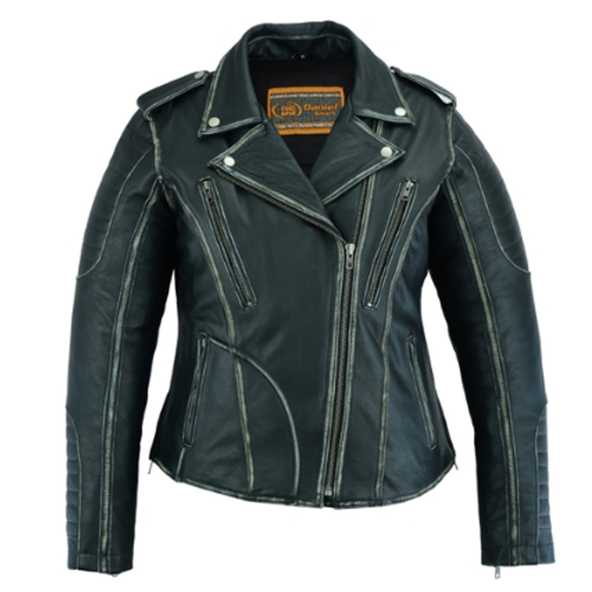 Daniel Smart Women's M/C Jacket With Rub-Off Finish - 421 Moto Gear