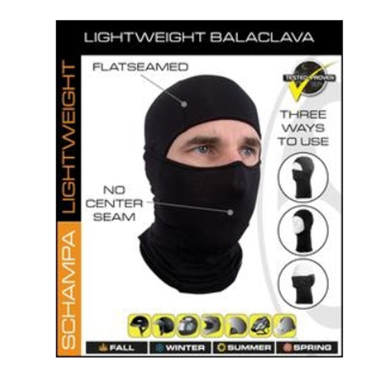 Daniel Smart Balaclava Deluxe - Lightweight - Black - 421 Moto Gear