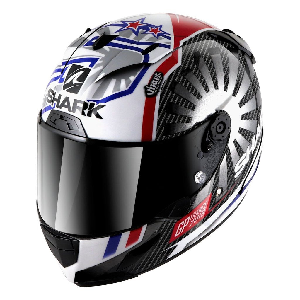 Shark Race-R Pro Carbon Replica Zarco GP de France  Full Face Helmet - 421 Moto Gear
