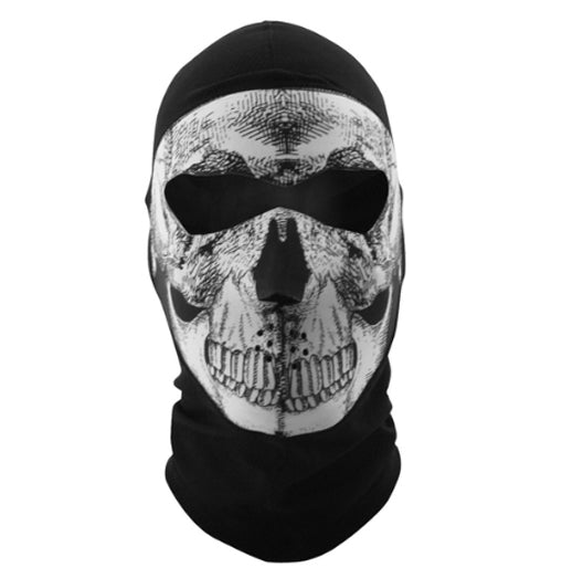 Daniel Smart Balaclava Extreme - COOLMAX - Full Mask - Black And White Skull - 421 Moto Gear