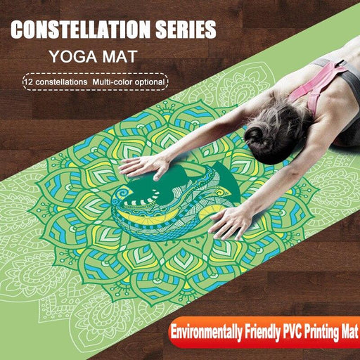 12 Constellations Zodiac Multi-Color Printed Non-slip Yoga Mat - Yoga Outlet Shop™