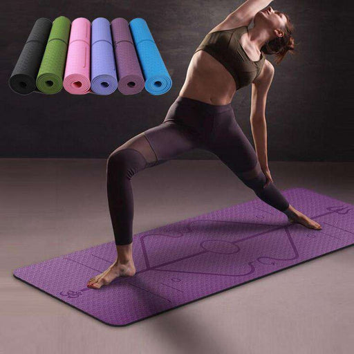 Beginner Yoga Mat with Position Line - Yoga Outlet Shop®