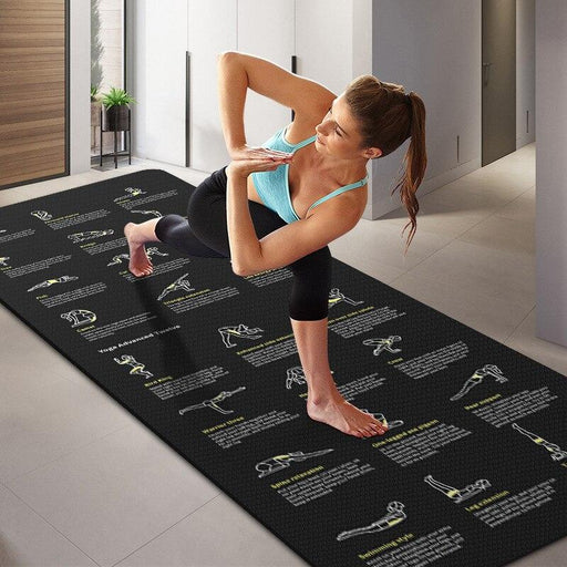 Black Yoga Poses Mat - Flow Yoga Shop™