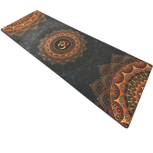 Dark Suede Chakra Yoga Mat - Flow Yoga Shop™