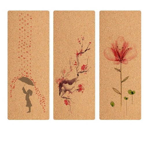 Eco-Friendly Cork Yoga Mat with Art Design - Yoga Outlet Shop™
